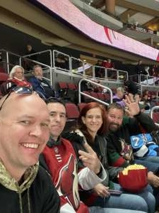 Trevin attended Arizona Coyotes vs. Pittsburgh Penguins - NHL on Jan 12th 2020 via VetTix