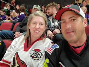 Scott attended Arizona Coyotes vs. Pittsburgh Penguins - NHL on Jan 12th 2020 via VetTix