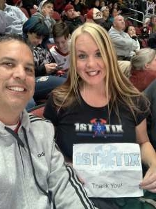 Ginny attended Arizona Coyotes vs. Pittsburgh Penguins - NHL on Jan 12th 2020 via VetTix