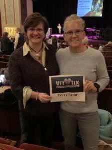 Kimberly attended Terry Fator on Jan 17th 2020 via VetTix