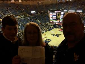 Graig attended West Virginia Mountaineers vs. Oklahoma State - NCAA Men's Basketball on Feb 18th 2020 via VetTix
