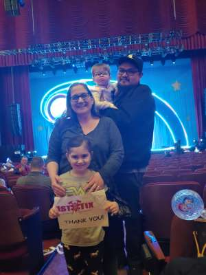 Theresa attended Nick Jr. Live! Move to the Music on Mar 1st 2020 via VetTix
