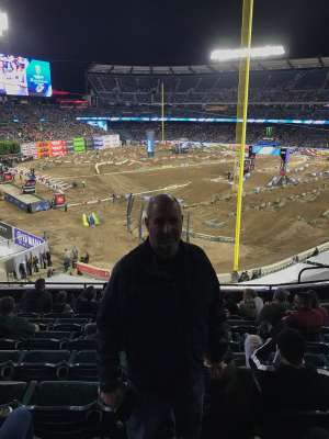 David attended Monster Energy Supercross on Jan 18th 2020 via VetTix