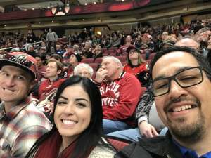 Brennan attended Arizona Coyotes vs. Florida Panthers - NHL on Feb 25th 2020 via VetTix