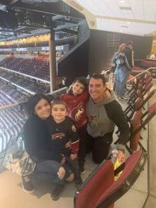 Kris attended Arizona Coyotes vs. Florida Panthers - NHL on Feb 25th 2020 via VetTix