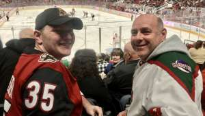 George attended Arizona Coyotes vs. Florida Panthers - NHL on Feb 25th 2020 via VetTix