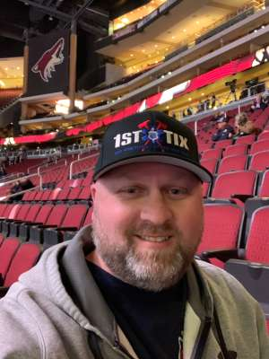 B attended Arizona Coyotes vs. Florida Panthers - NHL on Feb 25th 2020 via VetTix