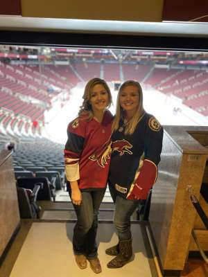 Ashleigh attended Arizona Coyotes vs. Florida Panthers - NHL on Feb 25th 2020 via VetTix
