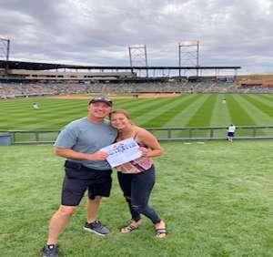 Charlie and Caela attended Colorado Rockies vs. Cincinnati Reds - MLB ** Spring Training ** Lawn Seats on Mar 10th 2020 via VetTix
