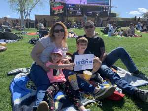 The Ferreiras  attended Chicago White Sox vs. Kansas City Royals - MLB ** Spring Training ** Lawn Seating on Mar 8th 2020 via VetTix