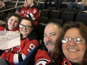 Theresa attended New Jersey Devils vs. Detroit Red Wings - NHL on Feb 13th 2020 via VetTix