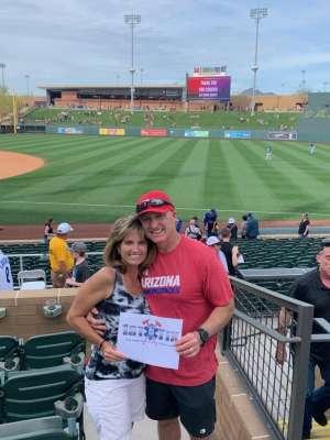 Charlie and Tracy attended Arizona Diamondbacks vs Kansas City Royals - MLB ** Spring Training ** on Mar 9th 2020 via VetTix