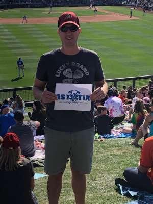 Brad attended Arizona Diamondbacks vs Kansas City Royals - MLB ** Spring Training ** on Mar 9th 2020 via VetTix