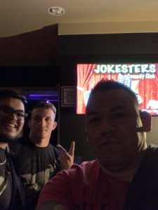 Carlos attended Jokesters Comedy Club on Mar 13th 2020 via VetTix