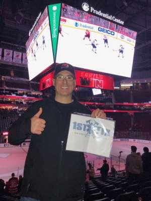 J.J. attended New Jersey Devils vs. St. Louis Blues - NHL on Mar 6th 2020 via VetTix