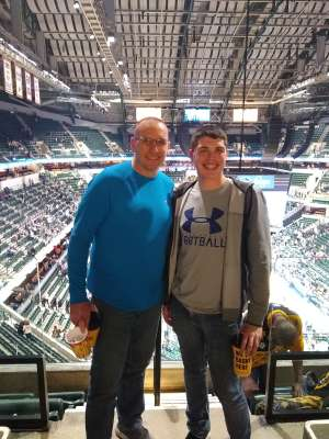 David attended Indiana Pacers vs. Charlotte Hornets - NBA on Feb 25th 2020 via VetTix