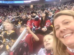 Carolyn attended New Jersey Devils vs. Pittsburgh Penguins - NHL on Mar 10th 2020 via VetTix
