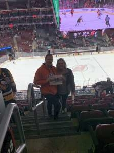 Susan attended New Jersey Devils vs. Pittsburgh Penguins - NHL on Mar 10th 2020 via VetTix