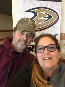 Traci attended Anaheim Ducks vs. Minnesota Wild - NHL on Mar 8th 2020 via VetTix