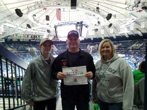 sheeter attended Notre Dame Fighting Irish vs Virginia Tech - NCAA Men's Basketball on Mar 7th 2020 via VetTix