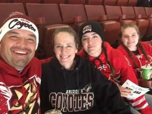 Tom and Fam attended Anaheim Ducks vs. Ottawa Senators - NHL - Antis Community Corner on Mar 10th 2020 via VetTix