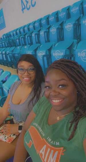 Lexxy  attended University of Miami vs. University of Virginia on Oct 24th 2020 via VetTix