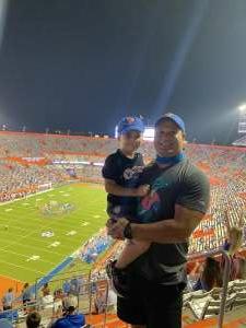 Jeff attended Florida Gators vs. Arkansas Razorbacks - Salute Those Who Serve Game - NCAA - Football on Nov 14th 2020 via VetTix