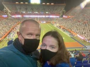 Chris attended Florida Gators vs. Arkansas Razorbacks - Salute Those Who Serve Game - NCAA - Football on Nov 14th 2020 via VetTix