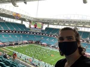 Randy attended University of Miami Hurricanes vs. University of North Carolina Tar Heels- NCAA Football on Dec 12th 2020 via VetTix