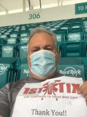 Jim attended University of Miami Hurricanes vs. University of North Carolina Tar Heels- NCAA Football on Dec 12th 2020 via VetTix