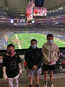 D Crook attended Goodyear Cotton Bowl Classic - Florida vs. Oklahoma - NCAA Football on Dec 30th 2020 via VetTix