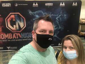 Tom attended Combat Night Pro Orlando - Live Mixed Martial Arts Action! on Mar 13th 2021 via VetTix