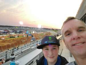 John and son  attended Monster Energy Supercross on Apr 13th 2021 via VetTix