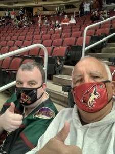 Steve attended Arizona Coyotes vs. Anaheim Ducks on Feb 22nd 2021 via VetTix