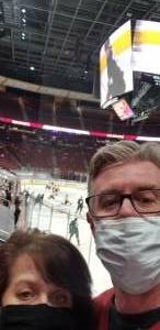 Rober attended Arizona Coyotes vs. Anaheim Ducks on Feb 22nd 2021 via VetTix