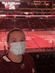 Amanda attended Arizona Coyotes vs. Anaheim Ducks on Feb 22nd 2021 via VetTix