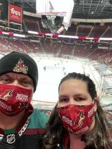 John H. attended Arizona Coyotes vs. Anaheim Ducks on Feb 22nd 2021 via VetTix