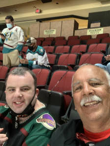 Steve attended Arizona Coyotes vs. Anaheim Ducks on Feb 24th 2021 via VetTix