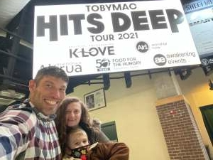 Jerry attended Tobymac Hits Deep Tour on Feb 25th 2021 via VetTix
