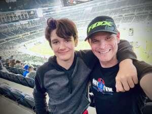 Jared attended Monster Energy AMA Supercross on Mar 16th 2021 via VetTix