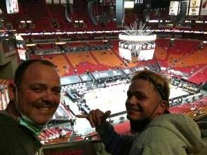 Robert attended Miami Heat vs. Cleveland Cavaliers - NBA on Mar 16th 2021 via VetTix