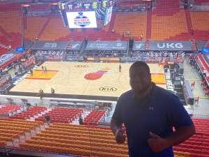James attended Miami Heat vs. Cleveland Cavaliers - NBA on Mar 16th 2021 via VetTix