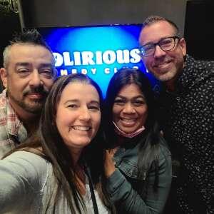 Rhonda  attended Delirious Comedy Club on Apr 25th 2021 via VetTix