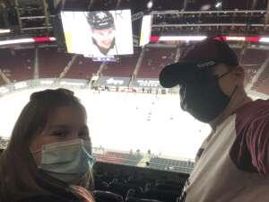 Markell attended Arizona Coyotes vs. St. Louis Blues on Apr 17th 2021 via VetTix