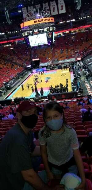 DG attended Heat vs. San Antonio Spurs on Apr 28th 2021 via VetTix