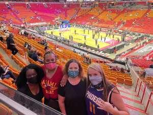 Gin attended Heat vs. San Antonio Spurs on Apr 28th 2021 via VetTix