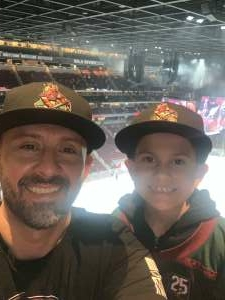 Ed attended Arizona Coyotes vs. Vegas Golden Knights - NHL on Apr 30th 2021 via VetTix