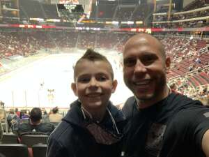 Justin8222 attended Arizona Coyotes vs. Vegas Golden Knights - NHL on Apr 30th 2021 via VetTix
