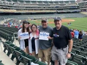 Lew Andrews attended Minnesota Twins vs. Detroit Tigers - MLB on Jul 10th 2021 via VetTix