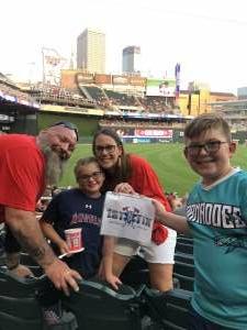 Carrie attended Minnesota Twins vs. Los Angeles Angels - MLB on Jul 24th 2021 via VetTix